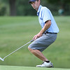 Round 2 of Lowell City Golf Tournament, at Long Meadow Golf Club. Shawn Scott of Long Meadow reacts to missed putt at the 7th hole. (SUN/Julia Malakie)