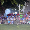 Round 2 of Lowell City Golf Tournament, at Long Meadow Golf Club. Spectators at the clubhouse. (SUN/Julia Malakie)