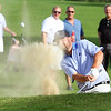 Round 2 of Lowell City Golf Tournament, at Long Meadow Golf Club. Mike Walker of Nabnasset hits out of a bunker on the 9th hole. (SUN/Julia Malakie)