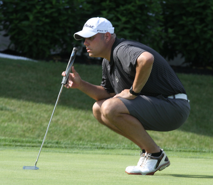 Round 2 of Lowell City Golf Tournament, at Long Meadow Golf Club. Scott Pare of Mt. Pleasant, who led at the end of the second day. (SUN/Julia Malakie)