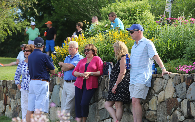 Round 2 of Lowell City Golf Tournament, at Long Meadow Golf Club. Spectators at the 9th hole. (SUN/Julia Malakie)