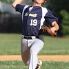 Lowell vs Dracut 14-15 year old Pony League baseball. Lowell starting pitcher Ben Zaim. (SUN/Julia Malakie)