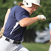 Lowell vs Dracut 14-15 year old Pony League baseball. Lowell's Ben Zaim runs out a ground ball in the bottom of the first inning. He was out but a run scored. (SUN/Julia Malakie)