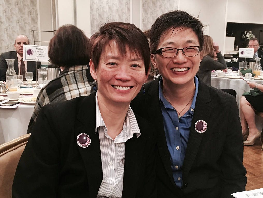 . Susu Wong, left, and keynote speaker Julie Chen, Ph.D, of Wilmington
