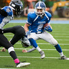 Lunenburg's George Khairalla carries the ball.