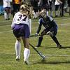 MT Katelyn Roseberry moves the ball with BK Rachel Drasser ready on the defense