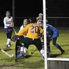 BN Natalie Proctor gets a shot on goalie Rhiannon Fletcher