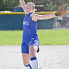 Lunenburg's Grace Oliver fires in to an Oakmont hitter during the game in Lunenburg on Wednesday afternoon. SENTINEL & ENTERPRISE / Ashley Green