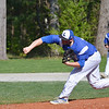 Lunenburg's Marc Poirier pitches to an Oakmont hitter during the game in Lunenburg on Wednesday afternoon. Lunenburg came out on top 4-2. SENTINEL & ENTERPRISE / Ashley Green