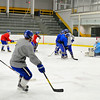 Lunenburg/Ayer practices at the Fitchburg State University Wallace Civic Center in Fitchburg on Tuesday.<br /> SENTINEL & ENTERPRISE / BRETT CRAWFORD