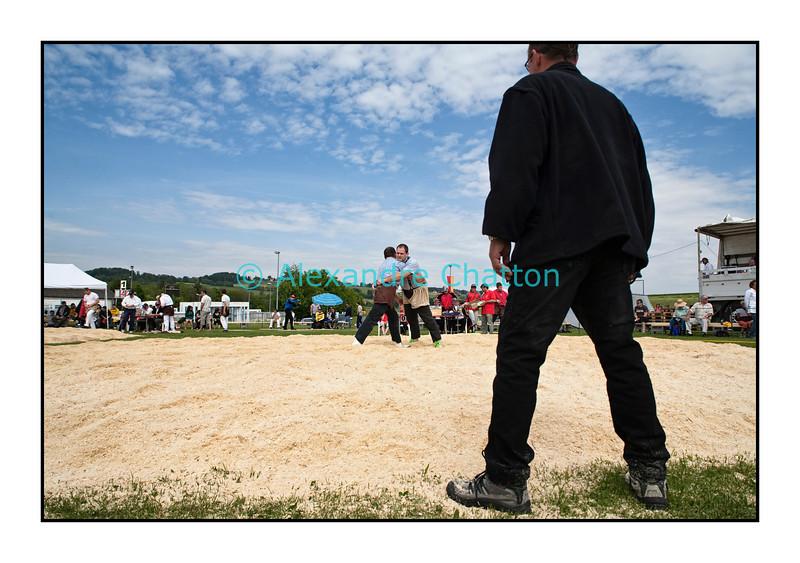 8 mai 2011: 88ème Fête cantonale vaudoise de lutte Suisse à Oron-La-Ville.