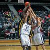 CLF 12-01-12<br /> Metro State vs. Regis University<br /> #5 Derrick January<br /> #21 Tyler Cooper