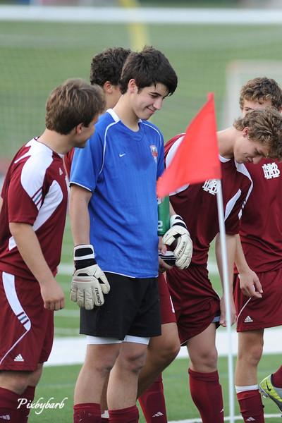 MBA Varsity Soccer vs Father Ryan 5-1-12