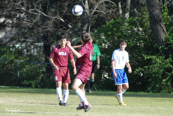 MBA Varsity Soccer vs Hume Fogg 2011