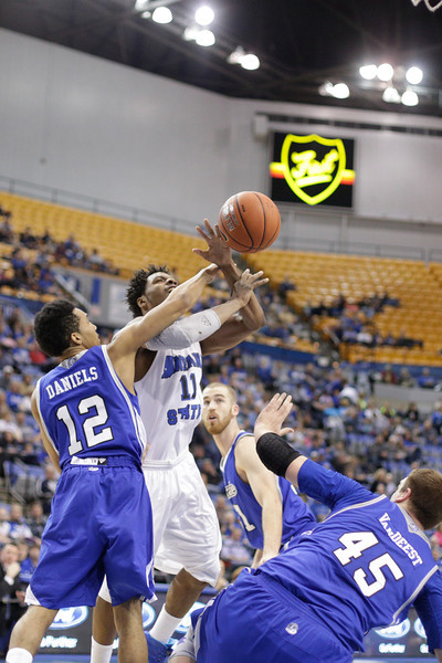 Indiana State Sycamores Men's Basketball Host Drake Bulldogs.