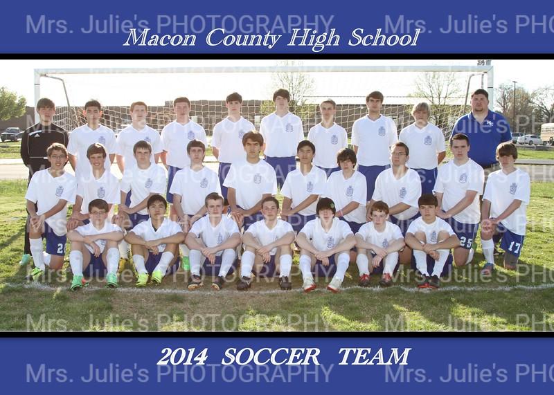 MCHS Boys Soccer Team 5x7
