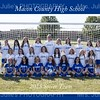 MCHS Girl's Soccer 2015 team 5x7