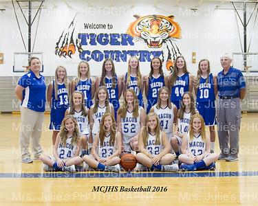 MCJHS Basketball 2016-17