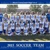 MCJHS Girl's Soccer 2015  TEAM 5X7