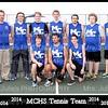 Tennis Team 2014 5x7