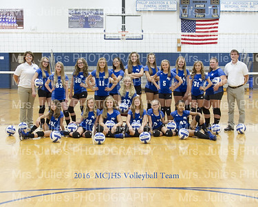 MCJHS Volleyball 2016 Picture Day
