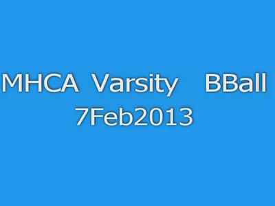 MHCA Varsity BBall 020713