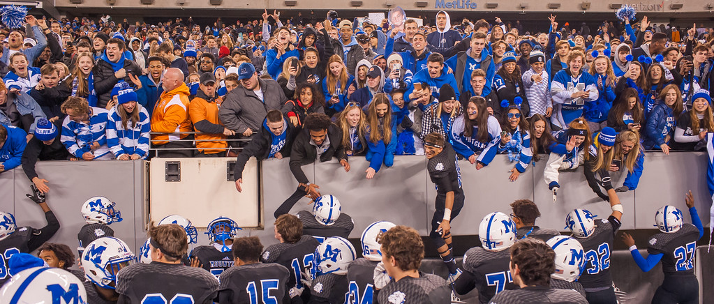 Montclair Fans and Team make up a powerful unstoppable force at Metlife Stadium Dec 1, 2017. Image Scott Kennedy/The Montclair Dispatch