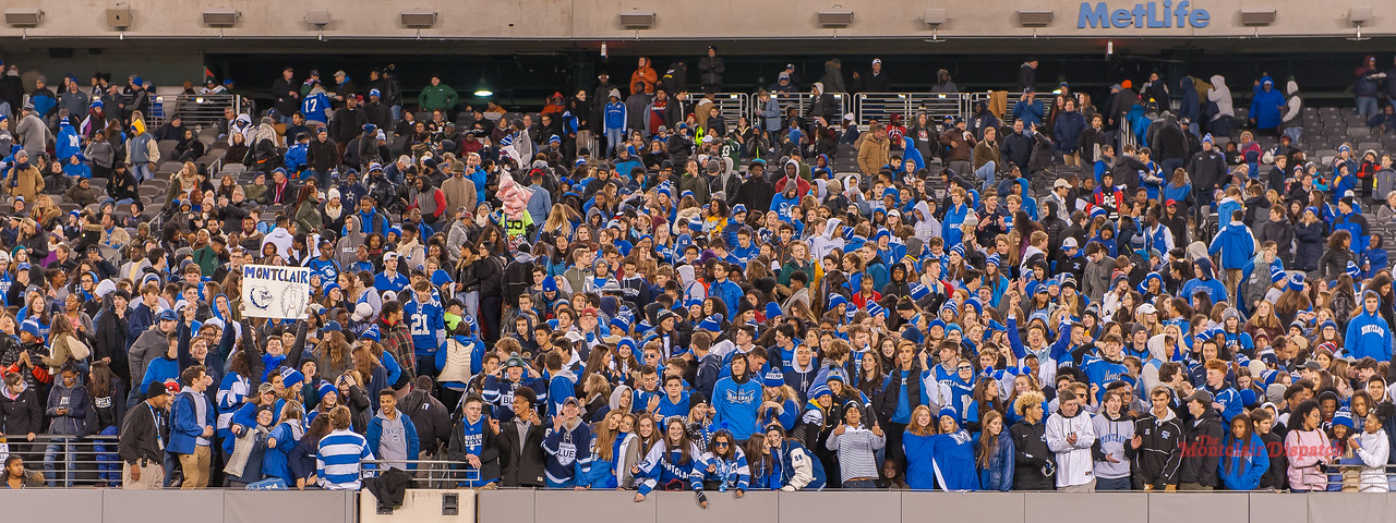 Montclair Student body, 1500 strong turn out to win the State Championship for the 26th time. Image, Scott Kennedy/The Montclair Dispatch