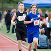 Lunenburg's Cameron Harvey runs the 800 meter during the First Annual MIAA Special Olympics Massachusetts Unified Track State Championship at Fitchburg State University on Tuesday afternoon. SENTINEL & ENTERPRISE / Ashley Green