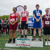 Athletes step up to receive their medals during the First Annual MIAA Special Olympics Massachusetts Unified Track State Championship at Fitchburg State University on Tuesday afternoon. SENTINEL & ENTERPRISE / Ashley Green