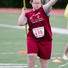 Fitchburg's Nicole Cabin throws the javelin during the First Annual MIAA Special Olympics Massachusetts Unified Track State Championship at Fitchburg State University on Tuesday afternoon. SENTINEL & ENTERPRISE / Ashley Green