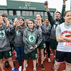 Athletes cheer on their teammates during the First Annual MIAA Special Olympics Massachusetts Unified Track State Championship at Fitchburg State University on Tuesday afternoon. SENTINEL & ENTERPRISE / Ashley Green