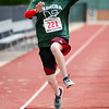 Nashoba's Sydney Meininger competes in the long jump during the First Annual MIAA Special Olympics Massachusetts Unified Track State Championship at Fitchburg State University on Tuesday afternoon. SENTINEL & ENTERPRISE / Ashley Green