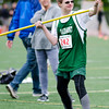 Oakmont's Kyle Torrey gives a thumbs up before throwing the javelin during the First Annual MIAA Special Olympics Massachusetts Unified Track State Championship at Fitchburg State University on Tuesday afternoon. SENTINEL & ENTERPRISE / Ashley Green