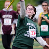 Nashoba's Kate Zeliff throws the javelin during the First Annual MIAA Special Olympics Massachusetts Unified Track State Championship at Fitchburg State University on Tuesday afternoon. SENTINEL & ENTERPRISE / Ashley Green
