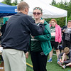 Nashoba's Tori Weiss receives her medal for the long jump during the First Annual MIAA Special Olympics Massachusetts Unified Track State Championship at Fitchburg State University on Tuesday afternoon. SENTINEL & ENTERPRISE / Ashley Green