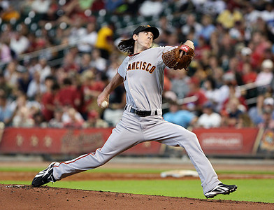 June 22, 2010 - Tim Lincecum continued his mastery of the Houston Astros pitching eight innings and allowing just one unearned run as the San Francisco Giants defeated the Astros 3-1
