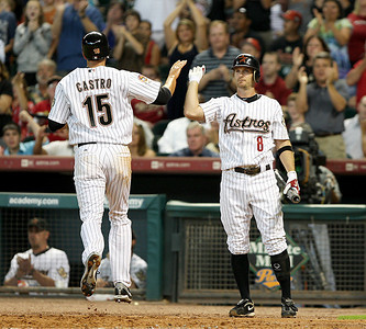 June 22, 2010 - Jason Castro scores the Astros only run of the night as the Astros lost to the San Francisco Giants 3-1.