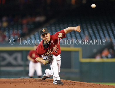July 16, 2011; Houston, TX, USA; Houston Astros pitcher Wandy Rodriguez (51) pitches in the second inning against the Pittsburgh Pirates at Minute Maid Park. Mandatory Credit: Troy Taormina-US PRESSWIRE