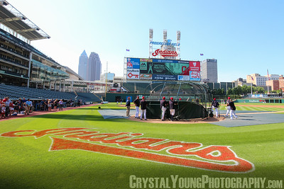 Cleveland Indians Batting Practice Progressive Field  June 10, 2015