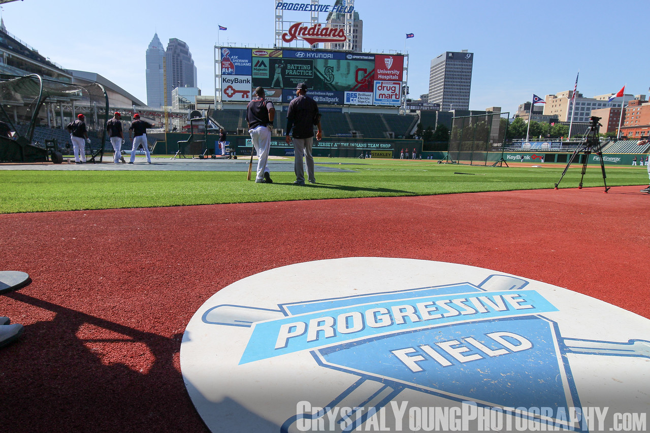 Cleveland Indians Batting Practice Progressive Field  June 10, 2015