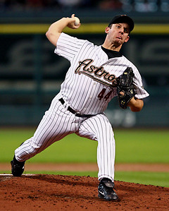 August 27, 2008 - Roy Oswalt pitched seven strong innings giving up just one run and five hits against the Cincinnati Reds.  Oswalt picked up the win as the Astros defeated the Reds 4-1 at Minute Maid Park in Houston.