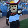Tim Phillis - The News-Herald<br /> Cavaliers mascot Sir CC on Aug. 6 at Classic Park.