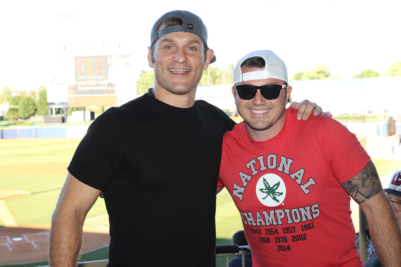 Tim Phillis - The News-Herald<br /> Stipe Miocic and Dustin Fox on Aug. 6 at Classic Park.