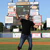 Tim Phillis - The News-Herald<br /> UFC heavyweight champion Stipe Miocic throws out a ceremonial first pitch Aug. 6 at Classic Park.
