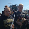 LaMuth Middle School Band members Faith Hendershot (left) and Marissa Radmor.