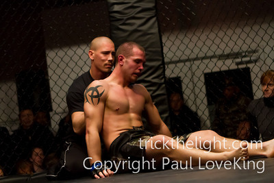 Fight 4 Jon Delbrugge vs Robert Rudy. Winner Jon Delbrugge