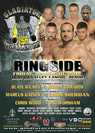 GLADIATOR CHALLENGE - RINGSIDE - 30 MARCH 2012