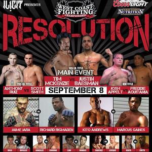WEST COAST FIGHTING CHAMPIONSHIP -RESOLUTION- 8 SEP 2012