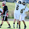 "Monarch High School's Jordan Meehan (6) gets a hug from teammate Nathan Puldy (10) after he scored during their game against Fairview High at Monarch High School on Tuesday April 10, 2012<br /> For more photos of the game go to  <a href=""http://www.bocopreps.com"">http://www.bocopreps.com</a>.<br /> <br /> Photo by Paul Aiken / The Camera"